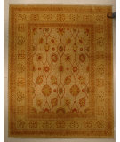 RugStudio presents J. Aziz Haj Jalili V-1681 Sand / Lemmon Hand-Knotted, Good Quality Area Rug