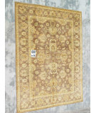 RugStudio presents J. Aziz Peshawar Ult-228 Brown-Brown 86979 Hand-Knotted, Good Quality Area Rug
