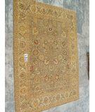 RugStudio presents J. Aziz Peshawar Ult-167 Gray-Beige 86963 Hand-Knotted, Good Quality Area Rug