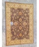 RugStudio presents J. Aziz Peshawar Ult-160 Brown-Beige 86956 Hand-Knotted, Good Quality Area Rug
