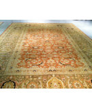 RugStudio presents J. Aziz Haj Jalili V-1678 BROWN / OLIVE Hand-Knotted, Good Quality Area Rug