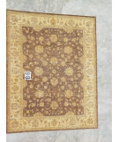 RugStudio presents J. Aziz Peshawar Ult-409 Brown-Beige 86991 Hand-Knotted, Good Quality Area Rug