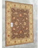 RugStudio presents J. Aziz Peshawar Ult-106 Brown-Beige 86927 Hand-Knotted, Good Quality Area Rug
