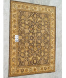 RugStudio presents J. Aziz Peshawar Ult-130 Brown-Beige 86943 Hand-Knotted, Good Quality Area Rug