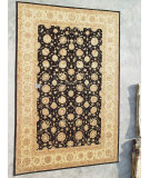 RugStudio presents J. Aziz Peshawar Ult-113 Black-Beige 86932 Hand-Knotted, Good Quality Area Rug