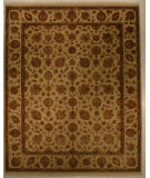 RugStudio presents J. Aziz Antiqued Jaipur Qnq-3 Ivory-Ivory 86859 Hand-Knotted, Good Quality Area Rug