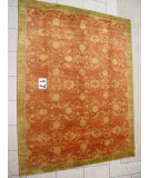 RugStudio presents J. Aziz Peshawar Novelty Light Brown- 86915 Hand-Knotted, Good Quality Area Rug