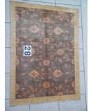 RugStudio presents J. Aziz Peshawar Novelty Gray- 86910 Hand-Knotted, Good Quality Area Rug