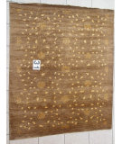 RugStudio presents J. Aziz Peshawar Novelty Brown- 86882 Hand-Knotted, Good Quality Area Rug