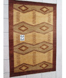 RugStudio presents J. Aziz Peshawar Novelty Beige- 86871 Hand-Knotted, Good Quality Area Rug