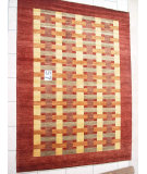 RugStudio presents J. Aziz Peshawar Novelty Brown- 86885 Hand-Knotted, Good Quality Area Rug