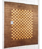 RugStudio presents J. Aziz Peshawar Novelty Brown- 86886 Hand-Knotted, Good Quality Area Rug