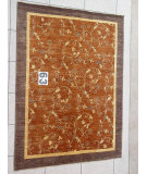 RugStudio presents J. Aziz Peshawar Novelty Brown- 86887 Hand-Knotted, Good Quality Area Rug