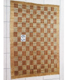 RugStudio presents J. Aziz Peshawar Novelty LightBrown- 86917 Hand-Knotted, Good Quality Area Rug