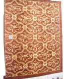 RugStudio presents J. Aziz Peshawar Novelty Chocolate- 86896 Hand-Knotted, Good Quality Area Rug