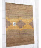 RugStudio presents J. Aziz Peshawar Novelty LightBrown- 86918 Hand-Knotted, Good Quality Area Rug