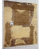 RugStudio presents J. Aziz Peshawar Novelty Beige- 86874 Hand-Knotted, Good Quality Area Rug