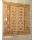 RugStudio presents J. Aziz Peshawar Novelty Lbn- 86920 Hand-Knotted, Good Quality Area Rug