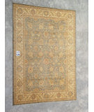 RugStudio presents J. Aziz Peshawar Ult-167 Gray-Beige 86964 Hand-Knotted, Good Quality Area Rug