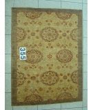 RugStudio presents J. Aziz Peshawar Novelty Beige- 86870 Hand-Knotted, Good Quality Area Rug