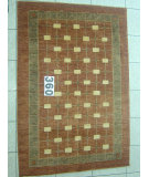 RugStudio presents J. Aziz Peshawar Novelty Brown- 86889 Hand-Knotted, Good Quality Area Rug