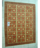 RugStudio presents J. Aziz Peshawar Novelty Brown- 86890 Hand-Knotted, Good Quality Area Rug