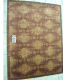 RugStudio presents J. Aziz Peshawar Novelty Chocolate- 86897 Hand-Knotted, Good Quality Area Rug
