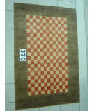 RugStudio presents J. Aziz Peshawar Novelty Beige- 86878 Hand-Knotted, Good Quality Area Rug