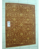 RugStudio presents J. Aziz Peshawar Novelty Brown- 86891 Hand-Knotted, Good Quality Area Rug