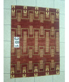 RugStudio presents J. Aziz Peshawar Novelty Brown- 86892 Hand-Knotted, Good Quality Area Rug
