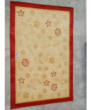 RugStudio presents J. Aziz Peshawar Novelty Beige- 86881 Hand-Knotted, Good Quality Area Rug