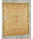 RugStudio presents J. Aziz Peshawar Novelty Gold- 86905 Hand-Knotted, Good Quality Area Rug