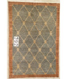 RugStudio presents J. Aziz Peshawar Novelty Gray- 86913 Hand-Knotted, Good Quality Area Rug