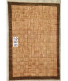 RugStudio presents J. Aziz Peshawar Novelty Gold- 86907 Hand-Knotted, Good Quality Area Rug