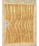 RugStudio presents J. Aziz Peshawar Novelty Gold- 86908 Hand-Knotted, Good Quality Area Rug