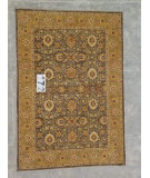 RugStudio presents J. Aziz Peshawar Ult-486 Brown-Gold 86995 Hand-Knotted, Good Quality Area Rug