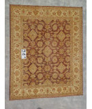 RugStudio presents J. Aziz Peshawar Ult-547 Brown-Beige 86998 Hand-Knotted, Good Quality Area Rug