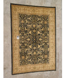 RugStudio presents J. Aziz Peshawar Ult-664 Black-Beige 87018 Hand-Knotted, Good Quality Area Rug