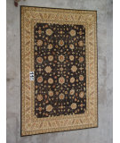 RugStudio presents J. Aziz Peshawar Ult-325 Black-Beige 86983 Hand-Knotted, Good Quality Area Rug