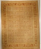 RugStudio presents J. Aziz Antiqued Jaipur Km-1002 Snd-Brn 86852 Hand-Knotted, Good Quality Area Rug