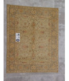 RugStudio presents J. Aziz Peshawar Ult-704 Green-Gray 87024 Hand-Knotted, Good Quality Area Rug