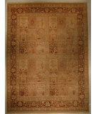 RugStudio presents J. Aziz Haj Jalili V-1734 Sand / Chocolate Hand-Knotted, Good Quality Area Rug