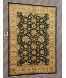 RugStudio presents J. Aziz Peshawar Ult-309 Black-Beige 86981 Hand-Knotted, Good Quality Area Rug