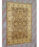 RugStudio presents J. Aziz Peshawar Ult-126 Brown-Beige 86937 Hand-Knotted, Good Quality Area Rug