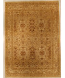 RugStudio presents J. Aziz Haj Jalili V-1740 Gold / Ivory Hand-Knotted, Good Quality Area Rug