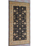 RugStudio presents J. Aziz Peshawar Ult-647 Black-Gray 87009 Hand-Knotted, Good Quality Area Rug