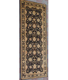 RugStudio presents J. Aziz Peshawar Ult-177 Black-Blk 86972 Hand-Knotted, Good Quality Area Rug