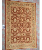 RugStudio presents J. Aziz Peshawar Ult-Tab Brown-Green 87056 Hand-Knotted, Good Quality Area Rug