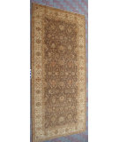 RugStudio presents J. Aziz Peshawar Ult-172 Brown-Beige 86967 Hand-Knotted, Good Quality Area Rug