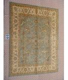 RugStudio presents J. Aziz Peshawar Ult-664 SoftBlue-Beige 87020 Hand-Knotted, Good Quality Area Rug